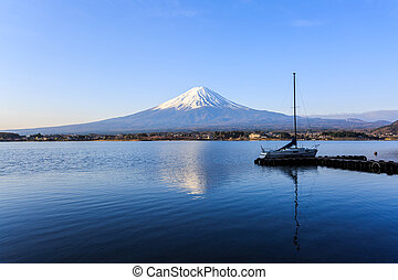 Mount fuji at Lake kawaguchiko. - Mount fuji at Lake...