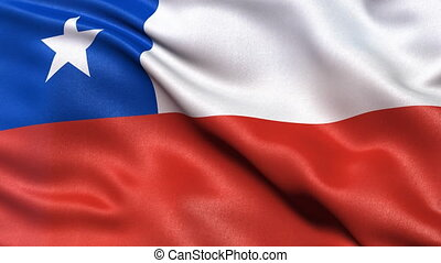 Seamless loop of Chile Flag - Seamless loop of flag of Chile...