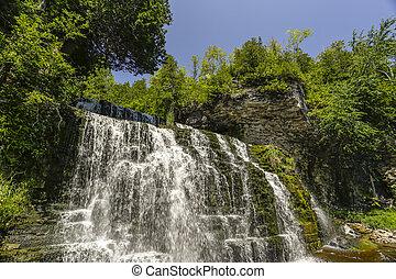 Scenic Jones Waterfalls of owen Sound Ontario