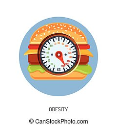 Obesity and Overweight Concept - Diet, Obesity and...