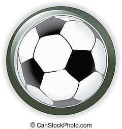 Football soccer background button illustration