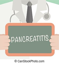 Medical Board Pancreatitis - minimalistic illustration of a...