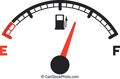 gas gauge - illustration of a motor gas gauge, eps 10 vector