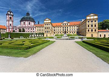Jaromerice nad Rokytnou castle, Czech Republic Sunny day at...