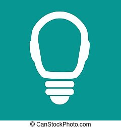 Light lamp sign icon. Idea symbol