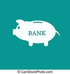 Piggy bank icon Pictograph of moneybox