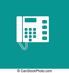 Telephone vector icon isolated