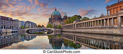 Berlin. - Panoramic image of Berlin Cathedral and Museum...