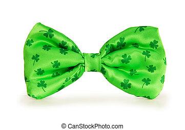 vert, arc, cravate, concept, Rue, Patrick, jour