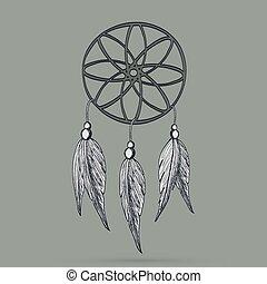Native American Indian dream-catcher