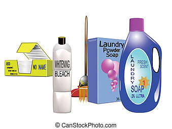 laundry cleaning supplies - cleaning utensils for home and...