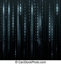 Twinkle binary code screen listing table on black background