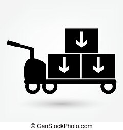 handcart vector icon