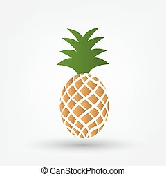 Pineapple tropical fruit Vector object Health symbol