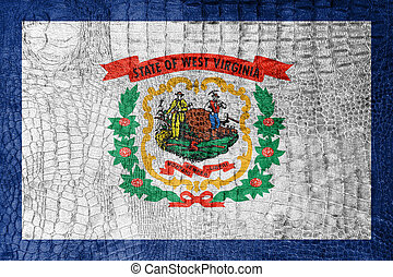 Flag of West Virginia State, on a luxurious, fashionable...