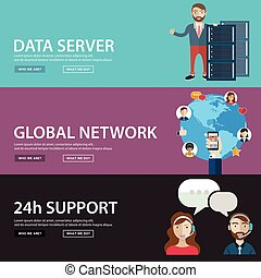 Data server,global network and costumer support. web banners
