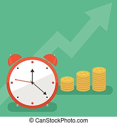 Time is money business concept in modern flat design. Eps10...