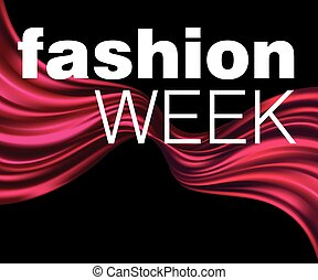 Fatshion Week Red fabric texture background Vector...