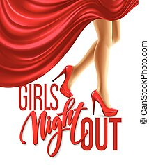 Girl Night Out Party Design. Vector illustration EPS10