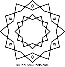 Simple black mandala - Simple mandala in black and white...