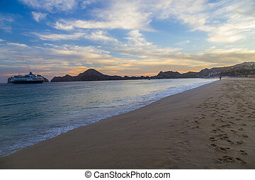 The Pacific Ocean in Cabo San Lucas Mexico