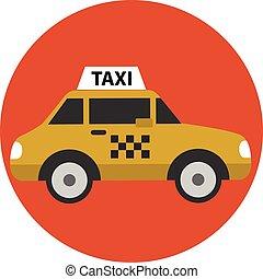 Taxi car cartoon icon