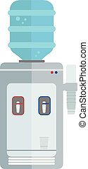 Water Dispenser Machine isolated vector illustration