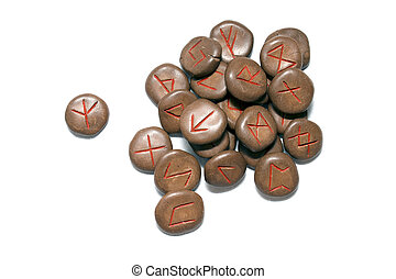 germanic runes - a set antique germanic runes, hand made out...