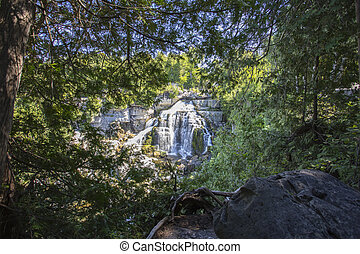 View of Inglis Falls in Owen Sound Ontario Canada