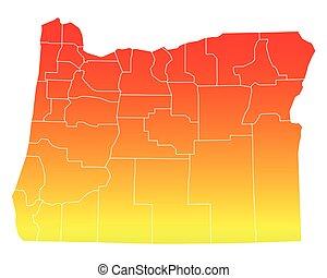 Map of Oregon