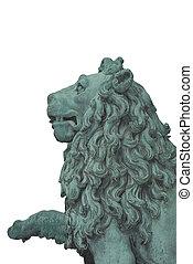 Lion Statue Cutout - A Lion Statue Cutout as Design Element