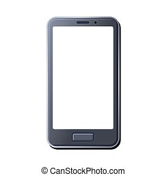 Realistic Smart Phone on White Background. Vector