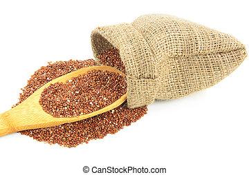 rojo, orgánico, Quinoa