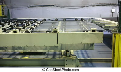production and processing of glass. cutting and grinding...