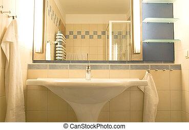 modern bathroom sink - modern bathroom with lavatory