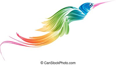 Abstract stylized flying bird - Abstract stylized...