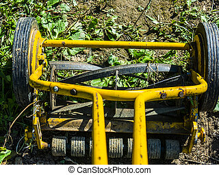 antique rotary style lawnmower