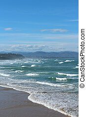 Atlantic ocean wave in the Basque country