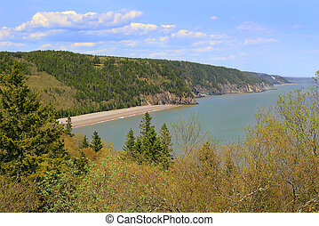 View of Melvin Beach on Fundy trail - View of unspoilled...
