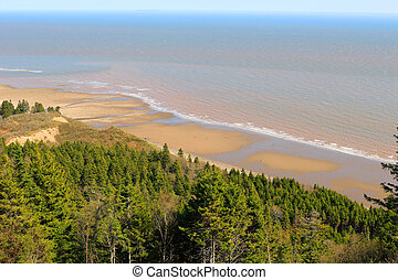 View of Long Beach on Fundy trail - View of unspoilled...