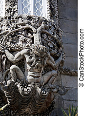gargoyle creature - Closeup view of the gargoyle creature in...