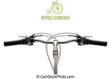 Realistic Handlebar Poster - Poster with realistic bicycle...