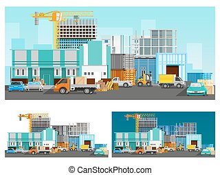 Warehouse And Logistics Compositions Set - Warehouse...