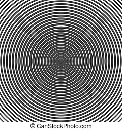 Circle Ring Hypnotic Background. Vector