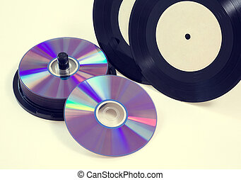 vinyl records, CD-R, DVD - vinyl records and cd CD-R, DVD on...