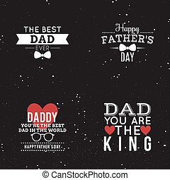 father day labels - abstrac father day labels on a special...
