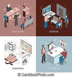 Law System Isometric Concept - Law system isometric concept...