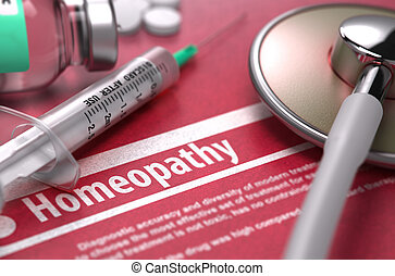 Homeopathy Medical Concept - Homeopathy Medical Concept with...