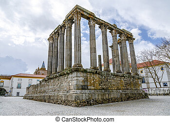 Evora, PortugalRoman Temple Diana - Evora, Portugal The...
