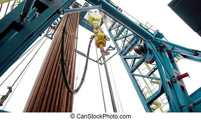 Indoor Drilling RIg - Drill pipe rotating Drilling Rig